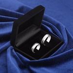 Aliança de Compromisso 6mm Prata 950 Modelo Midlight