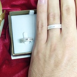 Aliança de Compromisso 5mm prata 950 Modelo Love