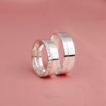 Aliança de Compromisso 6 mm 9g Prata 950 Modelo Crystal