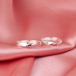 Aliança de Compromisso 3mm Prata 950 Modelo Infinity