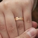 Aliança de Ouro 18k e Prata 6mm 10g Casamento Modelo Roma