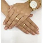 Aliança em Ouro 18k de Prata 5mm 8 gramas Modelo Atlanta