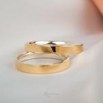 Aliança em Ouro 18k e Prata 3mm 6 gramas Modelo Bahamas