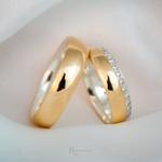 Aliança em Ouro 18k e Prata 6mm 10 gramas Modelo Elizabeth