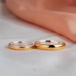 Alianças Ouro 18k e Prata 4mm 8 gramas Elizabeth