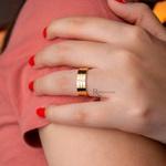Aliança em Ouro 18k e Prata 6mm 10 gramas Modelo Guardian Crystal