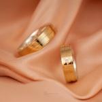 Alianças Ouro 18k Mista 6mm 10 gramas Modelo Hércules