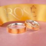 Aliança em Ouro 18k e Prata 6mm 10 gramas Reta Modelo Rapunzel