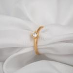 Anel Solitário Noivado Ouro 18k Modelo Alice