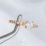 Anel Solitário/Noivado Ouro 18K Modelo Diana