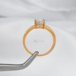 Anel Solitário Noivado Ouro 18K Modelo Duna