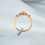 Anel de Noivado Ouro 18k Modelo Elanor