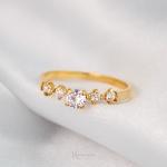 Anel de Noivado Ouro 18k Modelo Queen