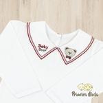 Body Manga Longa Baby Bear Vermelho