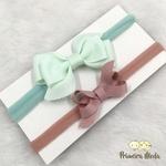Kit Faixa para bebê Duplo Boutique Marrom