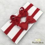 Kit Faixa para bebê Duplo Boutique Vermelho