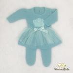 Vestido de Tricot Princesa Verde