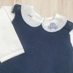 Saída De Maternidade Davi Azul Jeans