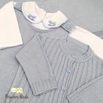 Saída De Maternidade Pedro Azul Bebê