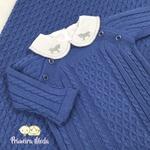 Saída De Maternidade Thomas Azul Jeans