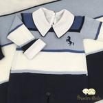Saída De Maternidade Cavalinho Azul
