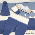 Saída De Maternidade Cavalinho Azul Jeans