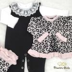 Saída De Maternidade Rebeca Rosa e Preto