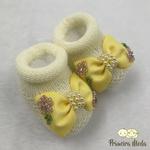 Sapatinho De Tricot Alice Amarelo