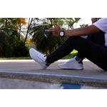 Kit Tênis Masculino Polo Joy Sport Com Relogio e Cinto Branco
