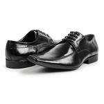 Sapato Social Bigioni Couro Masculino Bico Fino Conforto Preto