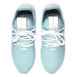 Kit Tênis Têxtil Antiderrapante + Chinelo Feminino Conforto Azul Bebe
