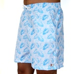 Shorts Praia Estampado Polo North Branco