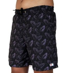 Kit Shorts Praia Estampado Polo North Marrom C/ Boné