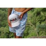 Kit Shorts Praia Estampado Polo North Branco C/ Boné