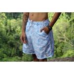 Kit Shorts Praia Estampado Polo North Branco C/ Pulseira