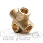 1136117552 CONEXAO FREIO VW FUSCA / BRASILIA / VARIANT / TL / TC Compativel com as pecas 62295