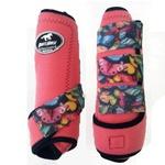 Boleteira Traseira Boots Horse - Rosa / velcro estampa 21