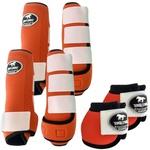 Kit Completo Boots Horse Color Cloche e Boleteira Dianteira e Traseira - Laranja / Branco