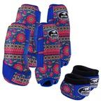 Kit Completo Boots Horse Color Cloche e Boleteira Dianteira e Traseira - Estampa A01 / Velcro Royal