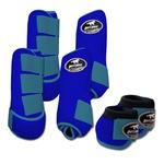 Kit Completo Boots Horse Color Cloche e Boleteira Dianteira e Traseira - Azul royal / Azul Turquesa