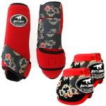 Kit Simples Color Boots Horse Cloche e Boleteira - Vermelho / Velcro estampa 14 (9)