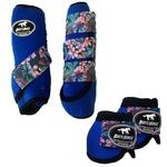 Kit Simples Color Boots Horse Cloche e Boleteira - Azul Royal / velcro estampa 20