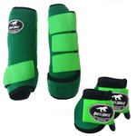 Kit Simples Color Boots Horse Cloche e Boleteira - Verde / Velcro Verde Limao (890)