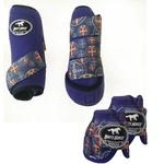 Kit Simples Color Boots Horse Cloche e Boleteira - Roxo / estampa 10