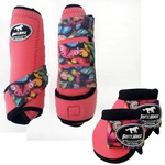 Kit Simples Color Boots Horse Cloche e Boleteira - Rosa / velcro estampa 21