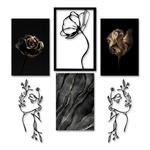 Kit 3 Quadros Sweet + Esculturas de Parede Decoração + Presente (Palavra de Parede Gratidão)