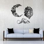 Kit 3 Esculturas de Parede | Decoração Moonlight + Presente (Palavra de Parede Gratidão)