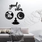 Kit 5 Esculturas de Parede | Decoração Good Vibes + Presente (Palavra de Parede Gratidão)