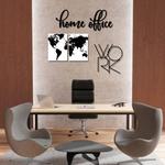 Kit Decoração Home Office + Presente (Palavra de Parede Gratidão)