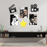 Kit Decoração Cinema + Presente (Palavra de Parede Gratidão)